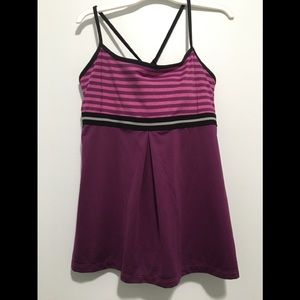 LUCY Power Strong Tank, Pink Pearl Stripe XL